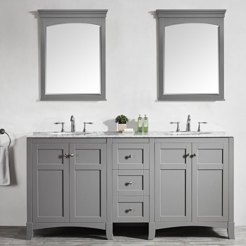 5 foot double vanity. Arezzo 72  Double Vanity Set with Mirrors Inch Vanities You ll Love Wayfair