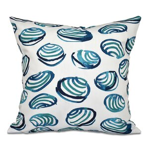 Cedarville Clams Geometric Print Throw Pillow