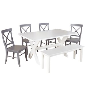 Medulla 6 Piece Dining Set by Beachcrest Home