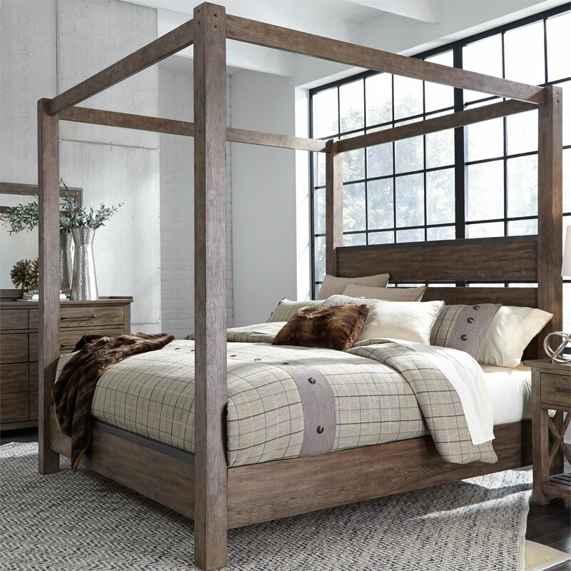 Superieur Bartow Standard Four Poster Canopy Configurable Bed Set
