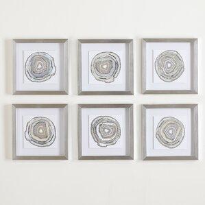 geodes framed prints set of 6