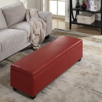 Boston Faux Leather Storage Bench & Red Barrel Studio Old York Leather Storage Bench \u0026 Reviews | Wayfair