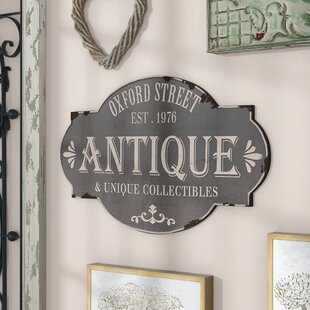 Oxford Street Antique Sign Wall Decor