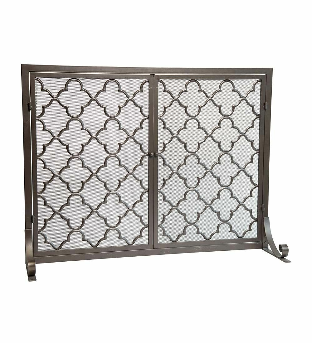 white com country french iron branch fireplce pioneerproduceofnorthpole antique fireplace screen screens