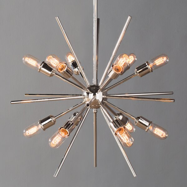 Langley street corona 12 light cluster pendant reviews wayfair