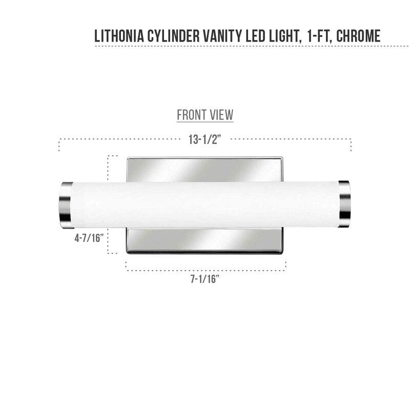 Lithonia Led Bathroom Lighting lithonia lighting 1-light led bath bar & reviews | wayfair