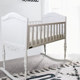 5b6bfce7f6 Antique White Cradle with Mattress