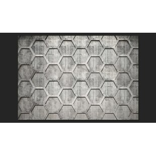 Platinum Cubes 245cm x 350cm Wallpaper by Artgeist