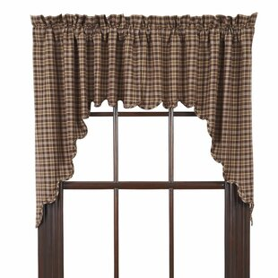 swag valances for windows designer isabell scalloped lined swag curtain valance set of 2 curtains valances youll love wayfair