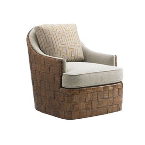 Island Fusion Nagano Swivel Barrel Chair by Tommy Bahama Home