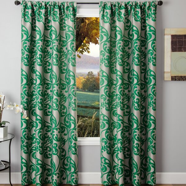 Emerald Green Velvet Curtains Wayfair
