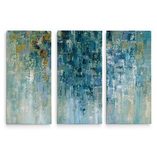 d02121f79fc8 'I Love the Rain' Acrylic Painting Print Multi-Piece Image on Gallery  Wrapped Canvas