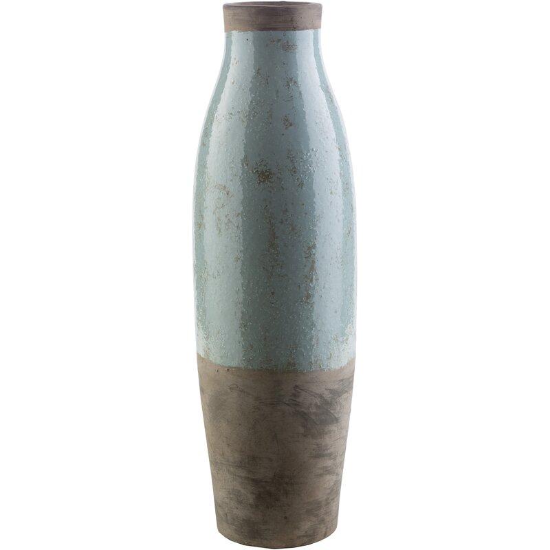 Evry Cylinder Ceramic Floor Vase & Reviews | Joss & Main on aqua floor tile, aqua floor pillow, aqua teapot, aqua ceramic vase, aqua black vase, aqua pottery vase, aqua tray, aqua basket, aqua blue vase,