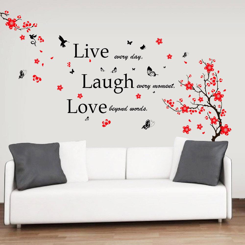 DIY Magnolia Flower Wall Decal Vinyl Sticker Mural Art Living Room Home Decor BC