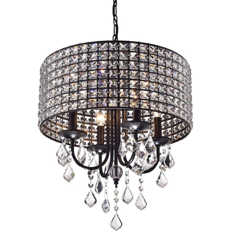 Albano 4-Light Crystal Chandelier  sc 1 st  Wayfair & Willa Arlo Interiors Albano 4-Light Crystal Chandelier u0026 Reviews ...