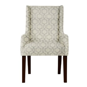 Larrabee Beige/Gray Arm Chair by Red Barr..