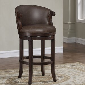 Bonfield 30  Swivel Bar Stool & Leather Bar Stools Youu0027ll Love | Wayfair islam-shia.org