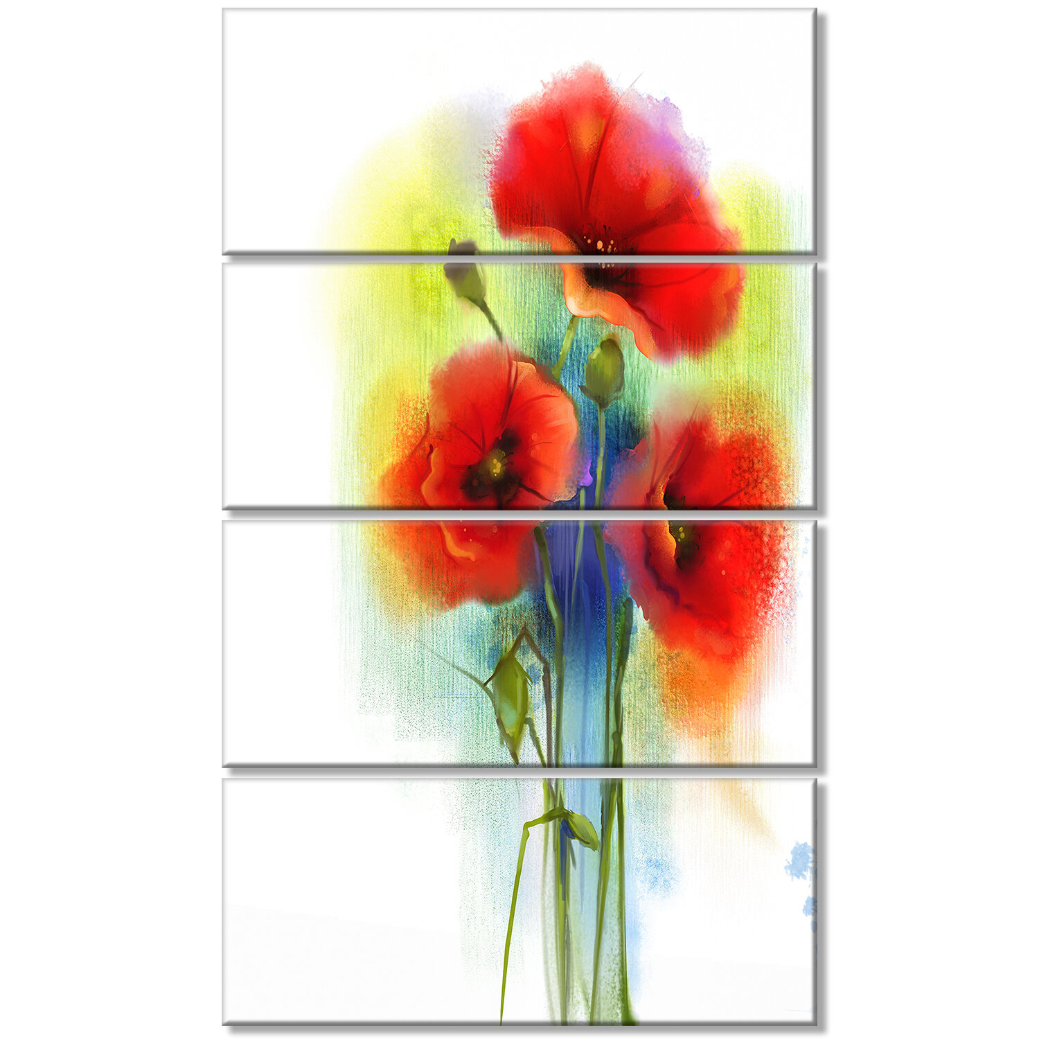 Red Poppy Cushions For Kitchen Chairs