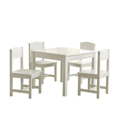 KidKraft Farmhouse Kids 5 Piece Writing Table and Chair Set