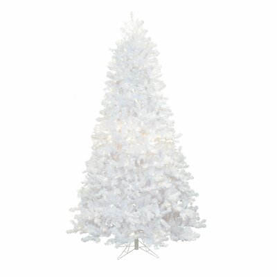 crystal 75 white pine artificial christmas tree with 700 led multi colored lights with
