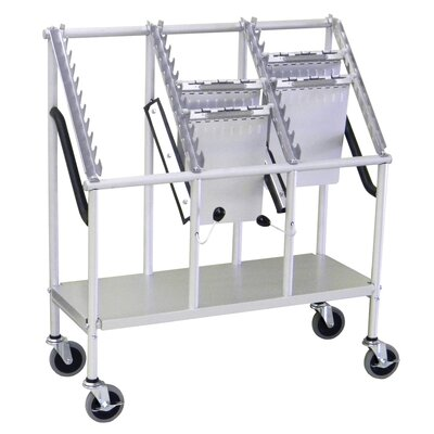 3 tier cart with wheels wayfair. Black Bedroom Furniture Sets. Home Design Ideas