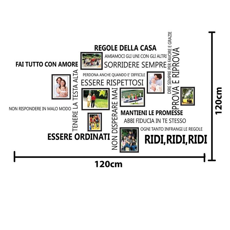 East Urban Home Wandtattoo Italienische Hausordnungs-Zitate ...