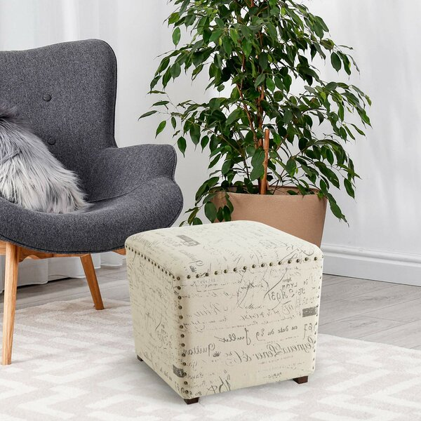 Ophelia Amp Co Nick Script Square Pouf Ottoman Wayfair Ca