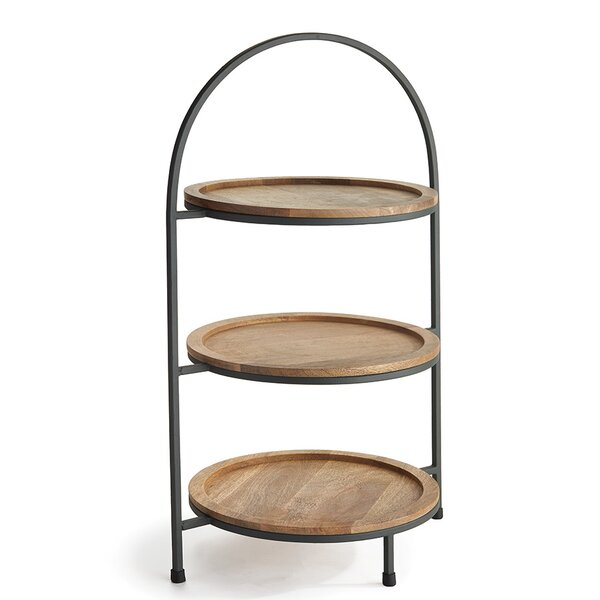 3 tier serving stand wayfair. Black Bedroom Furniture Sets. Home Design Ideas