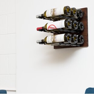 9 Bottle Wall Mounted Wine Rack