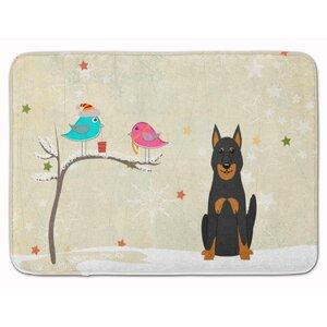 Christmas Presents Beauce Shepherd Dog Memory Foam Bath Rug