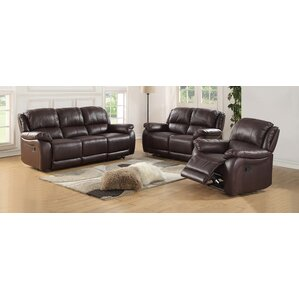 Juan 3 Piece Leather Living Room Set by Lati..