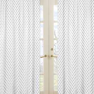 Mod Arrow Geometric Semi-Sheer Rod pocket Curtain Panels (Set of 2)