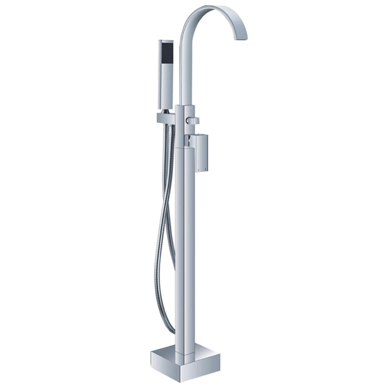 Karl Helixbath Modern Single Handle Floor Mount Freestanding Tub Filler Reviews Wayfair