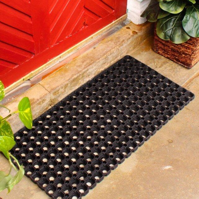 Envelor Home Hollow Rubber Doormat amp Reviews Wayfair