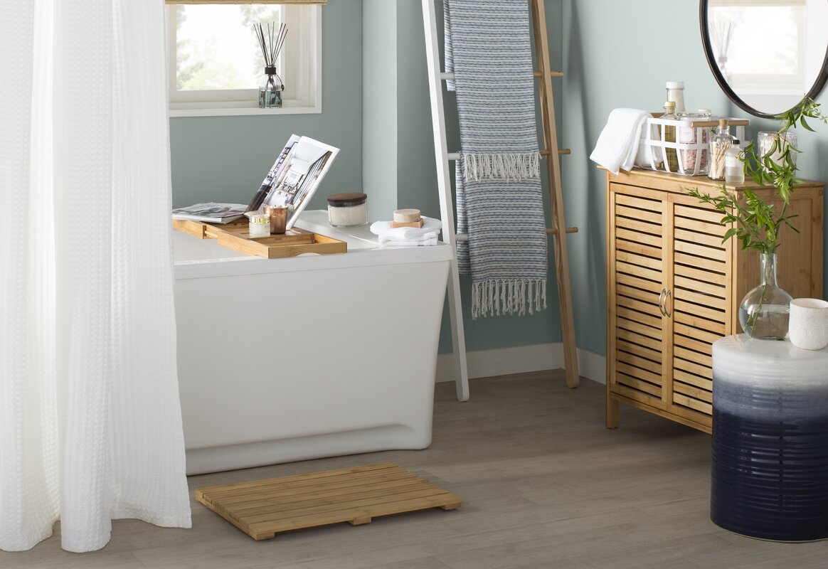 Rebrilliant Bamboo Bath Caddy \u0026 Reviews | Wayfair