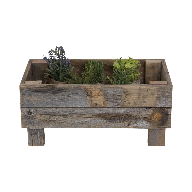 Reclaimed Wood Planter Box - DelHutsonDesigns Reclaimed Wood Planter Box & Reviews Wayfair