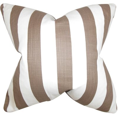 Birch Lane™ Heritage Knotts Indoor/Outdoor 100% Cotton Throw Pillow Size: 18 H x 18  W, Color: Brown