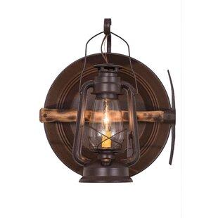 Greenbriar Oak 1 Light Mineru0027s Lantern Wall Sconce