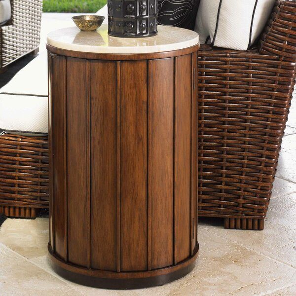 Tommy bahama home ocean club fiji end table reviews for Bahama towel chaise cover