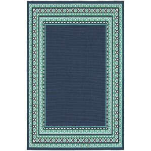 Kailani Navy/Green Indoor/Outdoor Area Rug