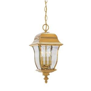 Gladiator 3-Light Outdoor Hanging Lantern