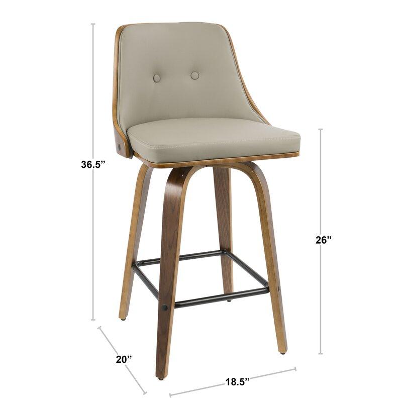 Enjoyable Langley Street Alexa Counter 26 25 Swivel Bar Stool Theyellowbook Wood Chair Design Ideas Theyellowbookinfo