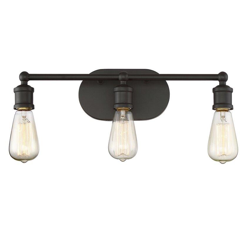 Elegant Agave 3 Light Vanity Light Fixture