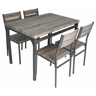 Emmeline 5 Piece Breakfast Nook Dining Set Best Design