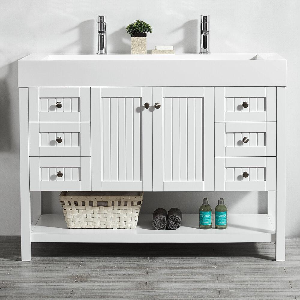 highland dunes harward 47 single bathroom vanity set reviews rh wayfair com 47 bathroom vanity sink cabinet 47 inch white bathroom vanity