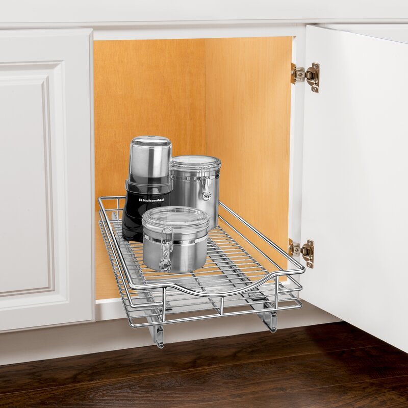 Roll Out Cabinet Organizer   Pull Out Drawer   Under Cabinet Sliding Shelf    11 Inch