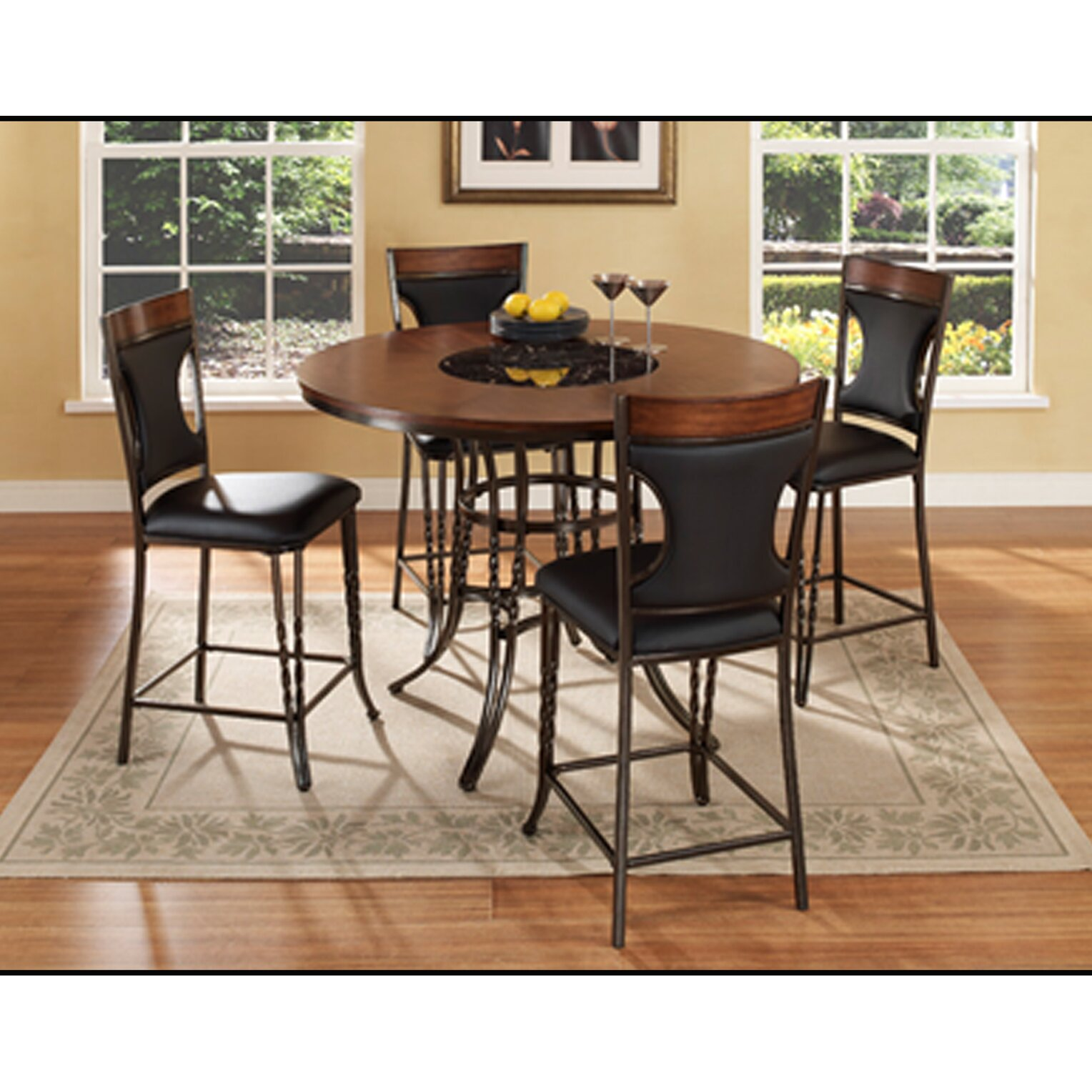 Ultimate Accents Dynasty 5 Piece Counter Height Dining Set ...