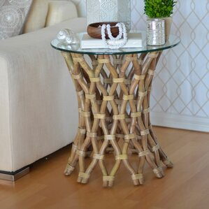 Hoop Rattan End Table by Kouboo