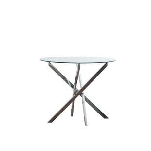 Jim Glass Pedestal Dining Table