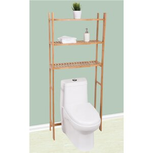 Bamboo 26 W x 65.15 H Over-the-Toilet
